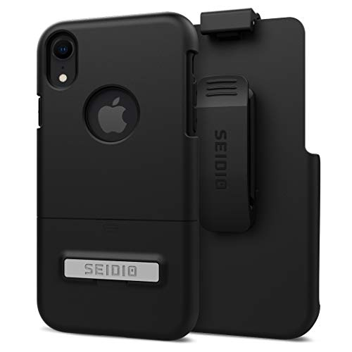 Seidio Surface Combo with Kickstand for Apple iPhone XR (Black/Black) ()