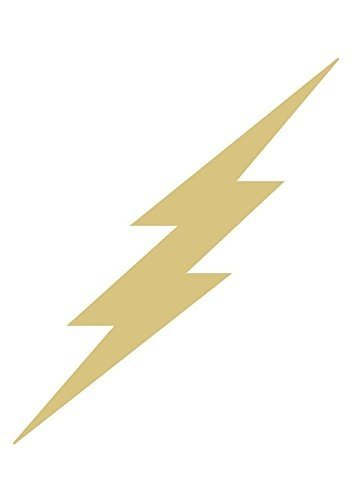 Lighting Bolt (Lightning Bolt (Style 2) Unfinished MDF Wood Cutout Variety of Sizes USA Made Home Kids Decor (6