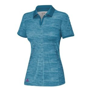 Adidas 2014 Women's Puremotion Textured Pleat Sleeve Polo Shirt (Teal - M)