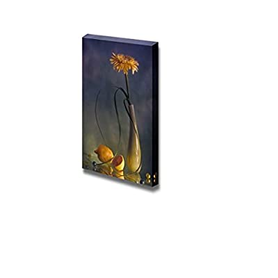 Canvas Prints Wall Art - Still Life with Yellow Flower and Lemon - 18