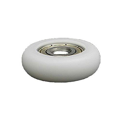Nylon Bearings - Driak 5x23x7.5mm White Bearing Steel Deep Groove Bearing Nylon Small Pulley Wheels, Set of 10