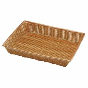 16'' x 12'' x 2 1/2'' Synthetic Shallow Wicker Baskets, Natural by Retail Resource