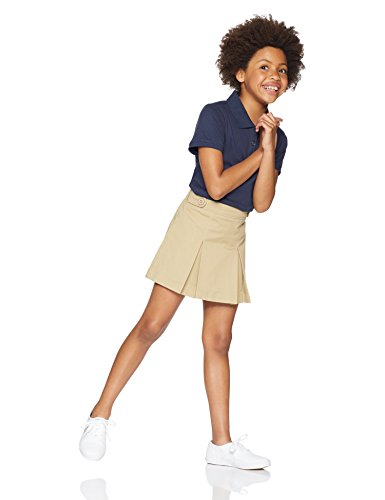 Amazon Essentials Girls' Uniform Skort, Khaki, S (6/7) by Amazon Essentials (Image #2)