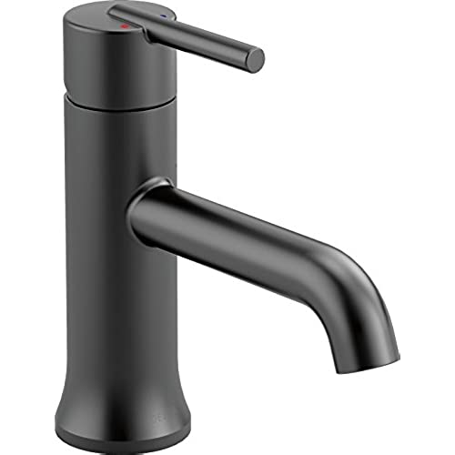 matte black bathroom faucet. Delta 559LF-BLLPU Trinsic Single-Handle Bathroom Faucet, Matte Black Faucet U