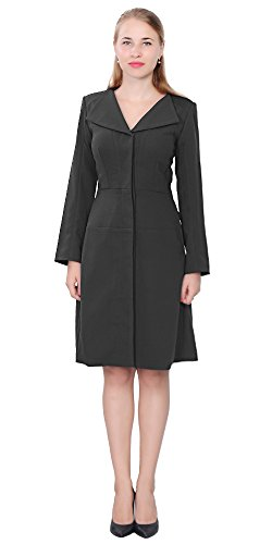 Marycrafts Womens Elegant Trapeze Coat Dress Vintage 1950s Coatdress 6 black - 50s Coat