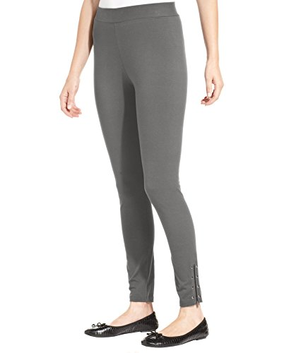 Style & Co. Womens Studded Zippered-Hem Leggings Gray XL by Style & Co.