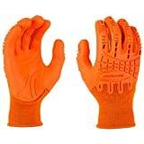 Mad Grip Thunderdome Impact Glove, High Vis Orange, XL, 0MG10F5-HIVSOR-XLarge, (Pack of 5) (0MG10F5-HIVSOR-XLarge)