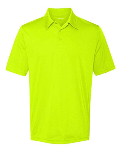 (DRI-Equip Dry-Wicking Performance 3-Button Golf Polos, Yellow-XXX-Large)