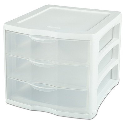 Sterilite 17918004 3 Drawer ClearView™ Storage Organizer