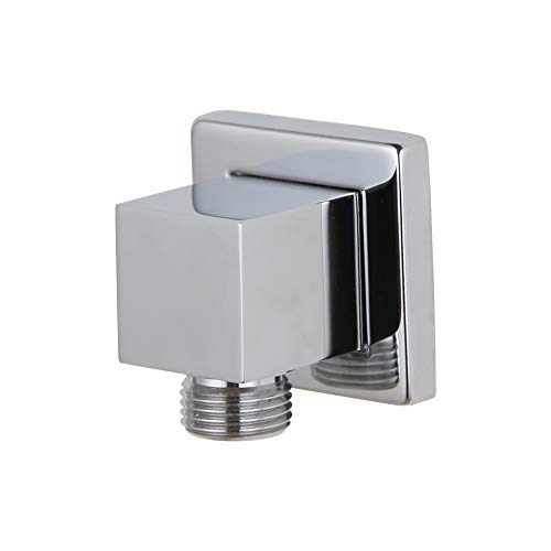 (Kelica 558640 Solid Brass Wall Mount Shower Outlet Water Supply Elbow, Polished Chrome)