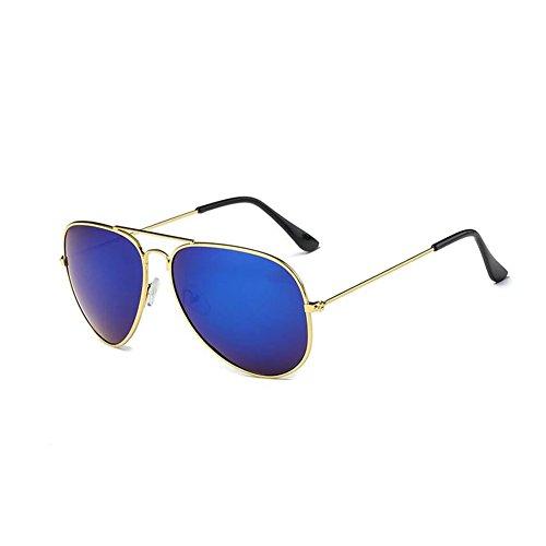 de de moda Película sol mm reflexiva F sol 蛤蟆 146 de polarizadas 135 clásica color de 53 Gafas NIFG Gafas UXq8zn