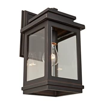 lighting outdoor wall sconce oil rubbed bronze led with photocell hampton bay