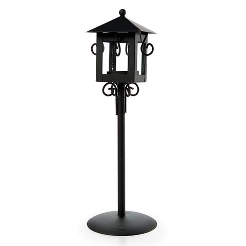 Lantern Stand Black - Darice 6569-061 Lantern Stand Candle Holder, 3.54 by 3.54 by 11.6-Inch, Black