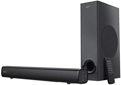 Creative Stage 2.1 - Barra de sonido con subwoofer para TV, ordenador y pantalla ultraancha, entrada óptica, entrada de TV ARC/AUX, mando a distancia y kit de montaje en pared: Amazon.es: Electrónica