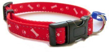 "Pet Tag Engraving Medium (Fits 12"" to 20"" Neck) Red Ancol Reflective Paw and Bone Dog Collar 693620"