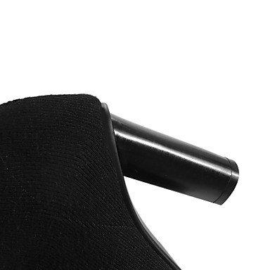 Deutsches Elektronen-Synchrotron Damen Schuhe Knit Fall Winter Fashion Stiefel Bootie Stiefel Chunky Absatz spitz zulaufender Zehenbereich Beute/Stiefelette für Casual Party & Evening beige