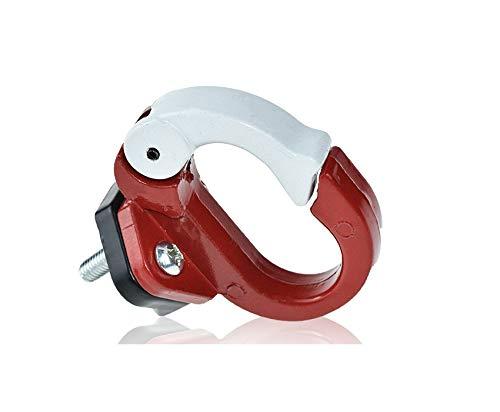 Gancio in metallo elettrico scooter bici accessori borse casco da appendere artiglio gancio gadget bagagli cargo Carrier Hanger gadget (rosso) Imcool