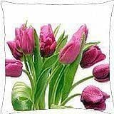 Sweet Pink Tulips - Throw Pillow Cover Case (18