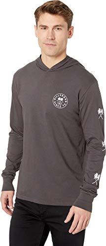 (Billabong Men's Tendencies Long Sleeve Hood T-Shirt Charcoal Large )
