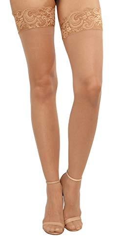 Dreamgirl Thigh High Silicone (One size Fits Most , Nude)
