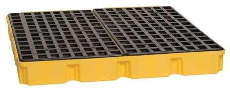 Eagle 1635D Yellow 4 Drum Modular Platform with Drain - Hazardous Spills