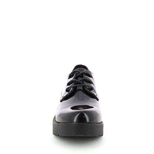 Tendance negro y Go cordones Negro con plataforma de derbies esmalte HOxOpB