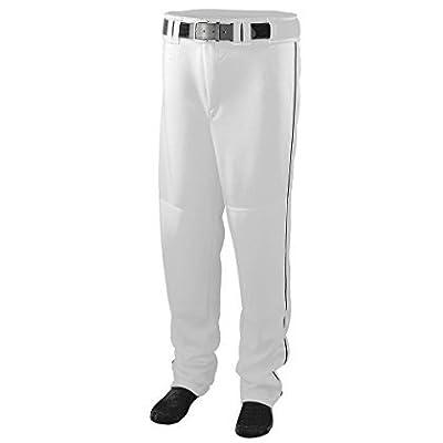 Series Baseball/Softball Pant with Piping - WHITE AND BLACK - LARGE