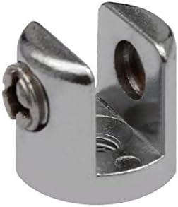 4x Chrom Glasplattentr/äger Glasbodenhalter Regalhalter /Ø18mm Vitrine 6mm 8mm