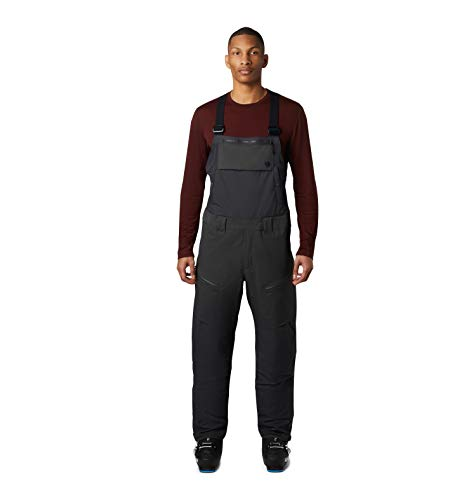 Mountain Hardwear FireFall Bib Pant Men's Insulated Bib Overalls for Skiing and Outdoor Recreation - Void - Large - Regular