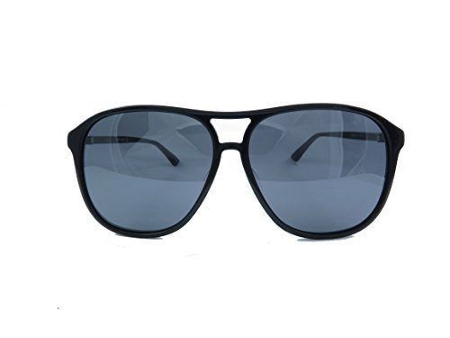 Gucci Design Sunglasses GG0016SA 002 Black Frame With Silver - Sunglass Friday Black Hut