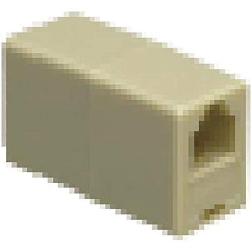 (Coupler; Modular; 4; Reverse; Ivory; 2; Modular line cords, Pack of 20)