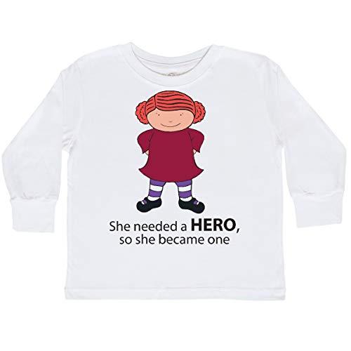 (inktastic She Toddler Long Sleeve T-Shirt 2T White - Michelle Nelson-Schmidt)