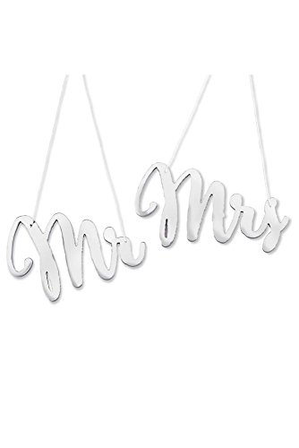 Kate Aspen 22075SV Silver Mirror Mr. & Mrs. Chair Signs