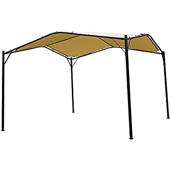 Mefo Garden Gazebo Outdoor Canopy Patio Swan , 12 X 12 Ft, Beige