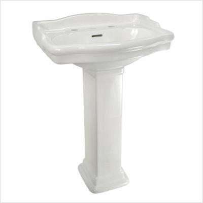 Elizabethan Classics ETP4SBI English Turn Petite Pedestal Basin, Bisque