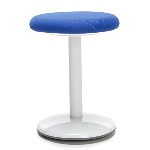 OFM Orbit Active Adjustable Stool - 18'' Tall Fabric Backless Stool, Blue (2818-ATV-BLU) by OFM