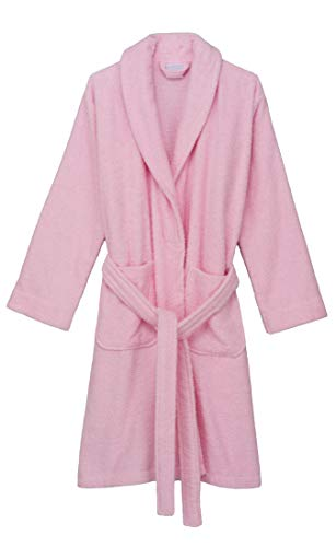 TowelSelections Women's Robe, Turkish Cotton Short Terry Bathrobe X-Small Ballerina Pink