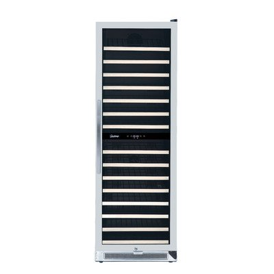Vinotemp VNTVT-150-2Z-SSDST 155-Bottle Dual-Zone Connoisseur Series Wine Cooler
