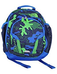 (The North Face Sprout Toddler/Little Kid Cosmic Blue Griddy Woodland Camo Print/Turkish Sea Backpack Bags)