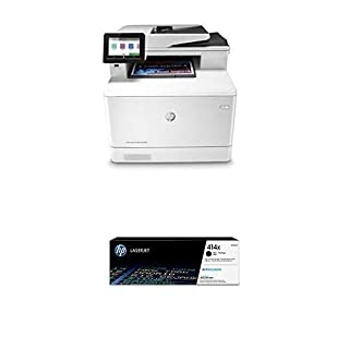 HP Color Laserjet Pro Multifunction M479fdn Laser Printer with High Yield Black Toner Cartridge