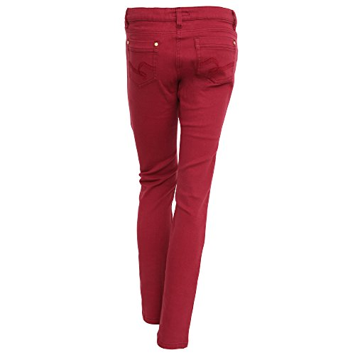 Brave Soul - Pantalones vaqueros pitillo lisos para mujer Rojo
