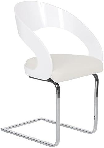 Alterego Chaise Moderne Lola Pour Salle à Manger Blanche