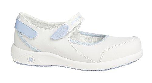 Oxypas Move 'Nelie' Slip-resistant, Antistatic Leather Nursing Shoes with Coolmax Lining,3.5 UK(36 EU)