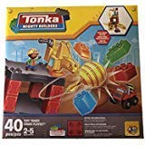 Amloid Tonka Mighty Builders Tower and Crane Building Blocks Play Set, 40 Pieces
