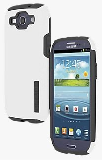 Incipio Samsung Galaxy S3 Double Cover Hard Shell Case with Silicone Core, White / Gray - Comes with Viewing Stand (Fits T-Mobile / Verizon / AT&T Galaxy S3) (Samsung Galaxy S3 Incipio Case compare prices)