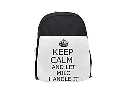 Mango se Milo Keep Calm printed Kid s mochila, para mochilas, cute small