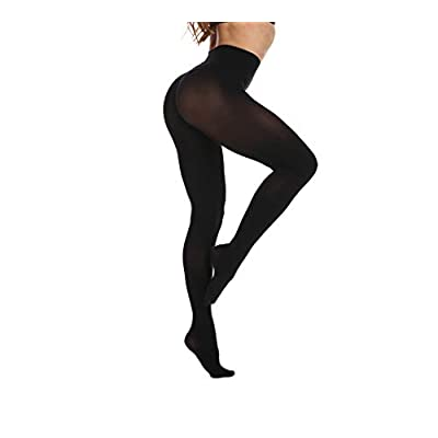 Women's 80 Denier Soft Semi Opaque Solid Color Footed Pantyhose Tights at Women's Clothing store
