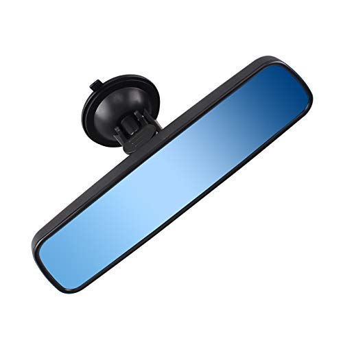 (Anti-glare Rear View Mirror, Universal Car Truck Interior RearView Mirror ANTI GLARE Suction Cup Blue Mirror)