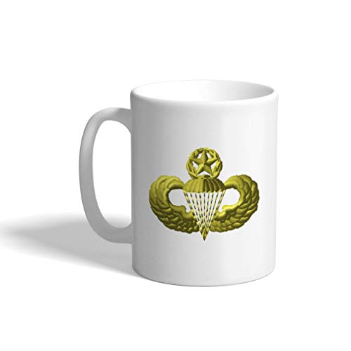 - Ceramic Funny Coffee Mug Coffee Cup Master Parachutist White Tea Cup 11 Ounces