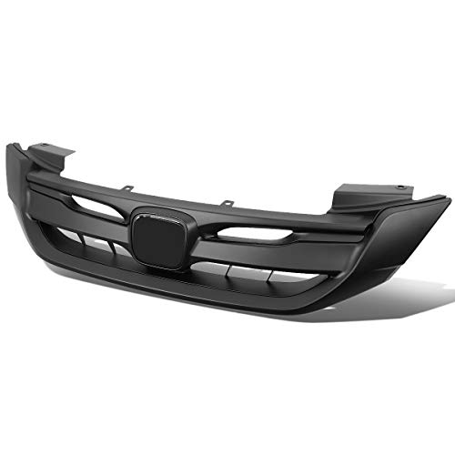 (Matte Black RS Sport Style Front Bumper Upper Grille for 13-15 Honda Accord Sedan)